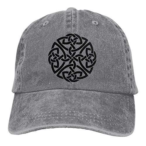 Irish Shield Warrior Celtic Cross Knot Unisex Cap Retro Cowboy Hat Vintage Hats Gray