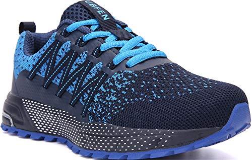 SOLLOMENSI Zapatillas de Deporte Hombres Mujer Running Zapatos para Correr Gimnasio Sneakers Deportivas Padel Transpirables Casual Montaña 42 EU H Azul