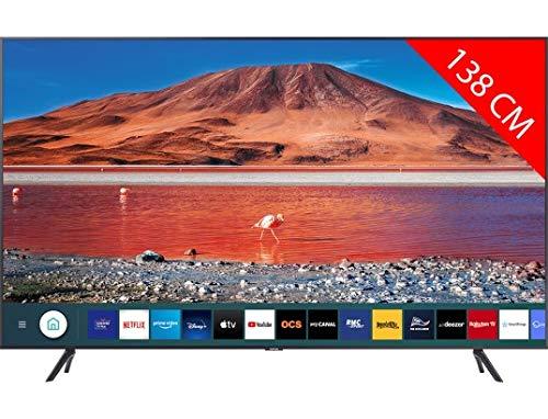 TV LED Ultra HD 4K 138 cm SAMSUNG UE55TU7125 - 55 pouces - HDR10+ - Smart TV - Wifi - Compatible AirPlay 2.0 / Google Assistant / Alexa - Netflix, My Canal, Disney+, YouTube, Prime Vidéo