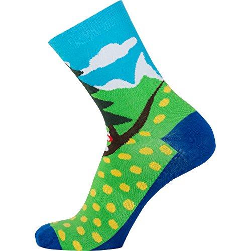 Sionyx SpringInTheForest blau grün Größe S Socken für Sport & Freizeit Fahrrad Bike