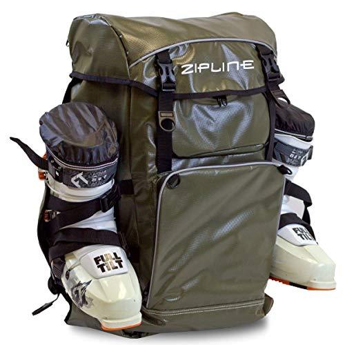 Zipline World Cup Ski Boot Bag Backpack – Waterproof Skiing and Snowboarding Travel Luggage –...