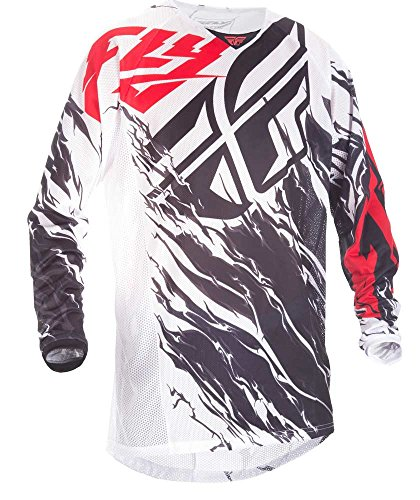 Fly Racing Mountainbike & Motocross Mesh Hemd schwarz-weiß-rot Fahrerhemd