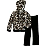 Healthtex Baby Toddler Girl Velour Hoodie and Pants Outfit Set (24 Months)