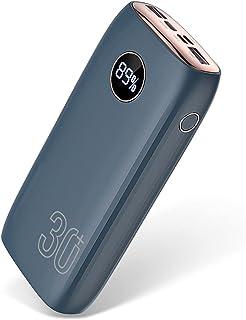 30000mAh Power Bank 22,5W PD 3.0 USB-C bärbar laddare Externt batteri QC4.0 Dubbel USB-utgång Höghastighets Phonen-laddare...