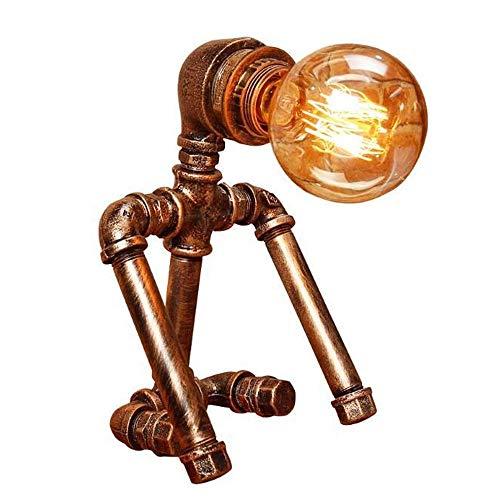 Paket, Trendtasche,SYXX Retro-Nostalgie Cafe Bar Lesesaal der Bibliothek Beleuchtung und E27 Zubehör Antike Tischlampe Personality Kreative Roboter Tischlampe Attic Industrie Eisen Wasserrohr Tischlam