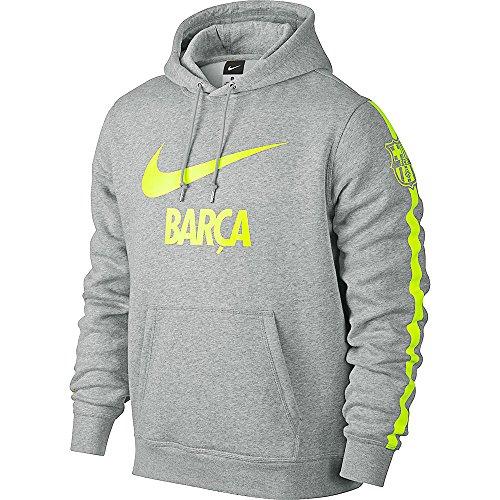 Nike Herren Club FC Barcelona Core Hoody, Grau, M, 624314-063