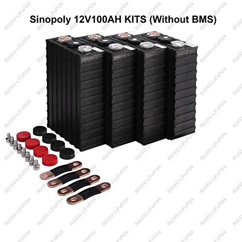LiFePO4 12V 100Ah Lithium Iron Phosphate Battery Pack, Light Weight LiFePO4 Battery for RV, Solar, Marine, and Off-Grid Applications