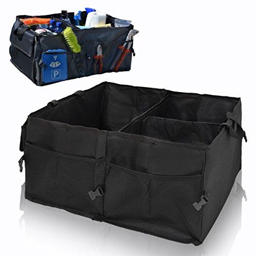 EYEPOWER Kofferraumtasche Auto Organizer 56x40x24 cm Autozubehör Tasche Faltbare Kofferraum Aufbewahrungs-Box Schwarz