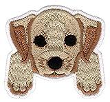 Bestellmich H& Welpen Labrador Aufnäher Bügelbild Patch Applikation Größe 5,9 x 5,6 cm