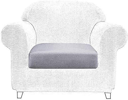 Seat pads Sofa Chair Cushion Covers Polyester Spandex Elastic Sofa Couch Slip Covers Protector Replacement Home Living Room 2 Seater chair cushions with ties set (Color : 1 Seater Light Gray)