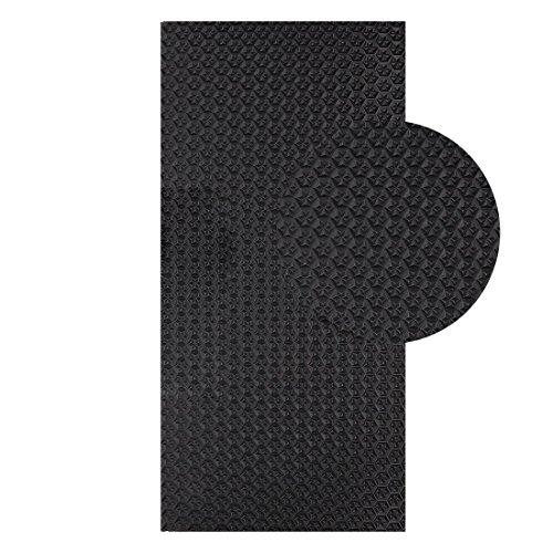 Langlauf Schuhbedarf Sohlengummiplatte 250mm x 500mm 6mm stark Profil Star in verschiedenen Farben zur Anfertigung von Schuhsohlen oder als Anti Rutsch Belag - 6 mm Stärke (schwarz)