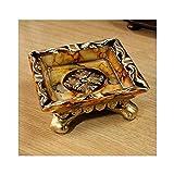 CLJ-LJ Cenicero, cenicero del Cigarrillo de la Resina, la Caja de Cigarrillo de Tabaco y Decoraciones de Mesa for los Fumadores de Buen Humor, Buena Vida (Tamaño: 14 * 5 cm, Estilo: B)