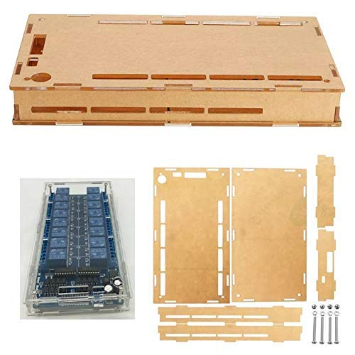 YIONGA CAIJINJIN Module Transparent Acrylic Case Protective Housing for 16 Channel Relay Module Wood Shaving Tools