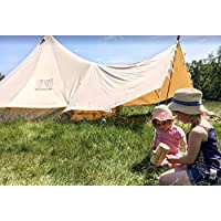 Canvas Bell Tent Awning 400 x 260 – 3 pole 10