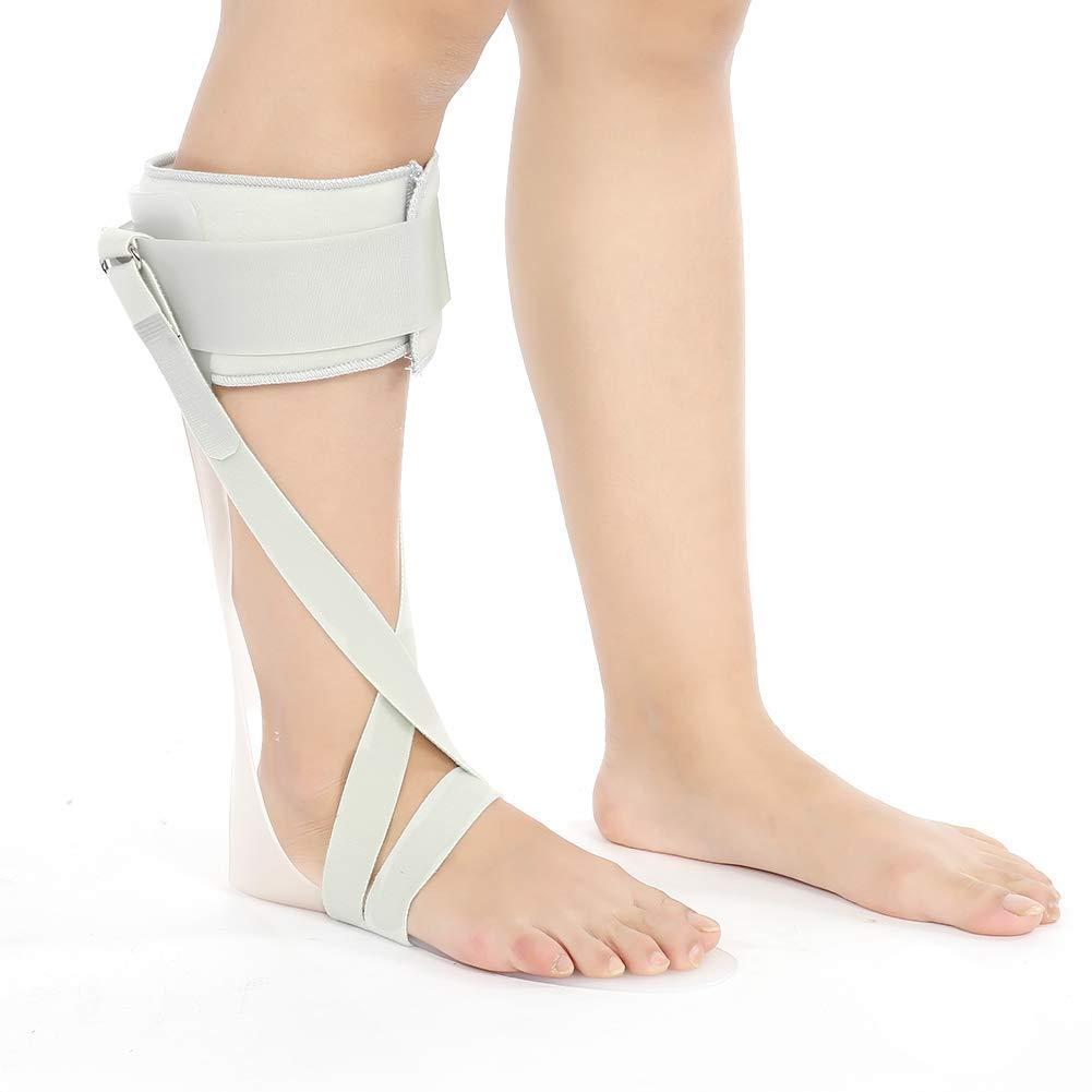TMISHION Corrector de tobillo ajustable para la ortesis de la caída del pie, soporte de corrección de la férula con la correa de fijación del pie en forma de X (derecho)