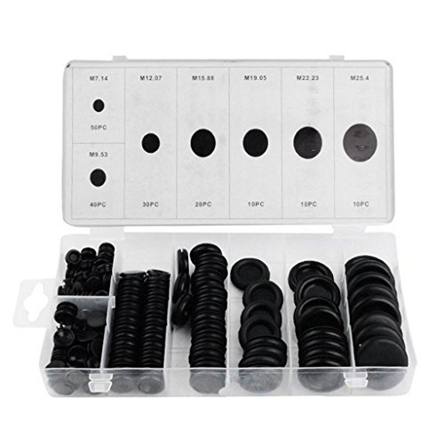 Goodqueen 170 Rubber Grommet Assortment Firewall Hole Plug Set Electrical Wire Gasket Kit for