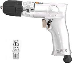 Yagosodee Taladro Neumático 3/8 Pulg. Tipo Pistola Interruptor Reversible de Bloqueo Automático Herramienta Neumática Manual de Diseño de Tres Garras
