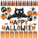 Globos de halloween Decoración de fiesta de Halloween sin anudar sellado automático...