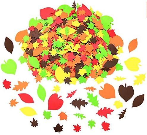 540pcs Fall Leaf Stickers Self Adhesive Foam Maple Leaves Craft EVA Stickers Autumn Leaf Shapes product image