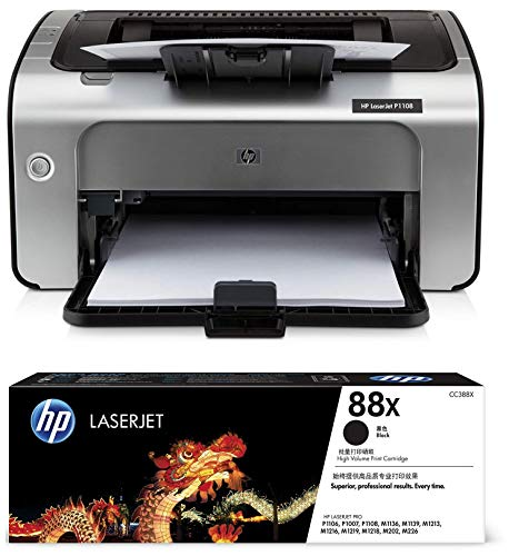 HP Laserjet P1108 Single Function Monochrome Laser Printer & HP...