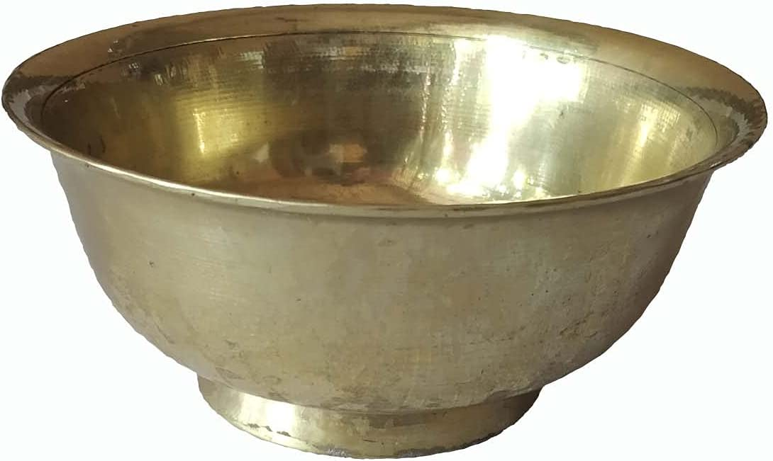 Antique Indian Traditional 1 year warranty handcrafted Golden using brass Houston Mall Bowl D