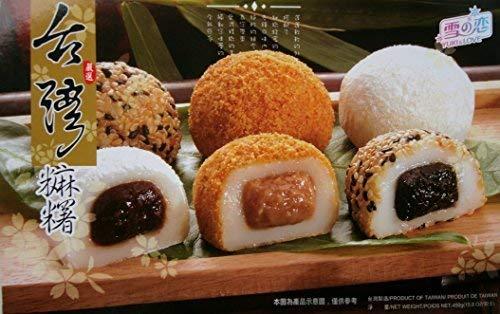 15 japanische Reiskuchen Mochi MIX Sesam, Erdnuss, Adzuki 450g