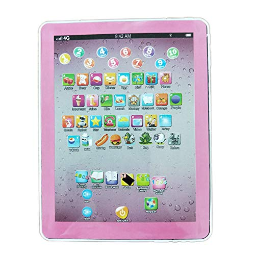 DishyKooker Tablet Pad Computer for Kid Children Learning English Educational Teach Toy Gift Chinese and English (Pink) The Latest Stylish,The Best Gift for Family or Friends