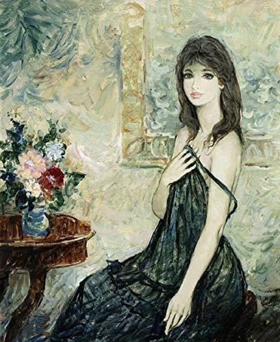 Ivansung Juego de pintura al óleo para niñas sexys y chicas jóvenes, para decoración navideña, 40 x 50 cm