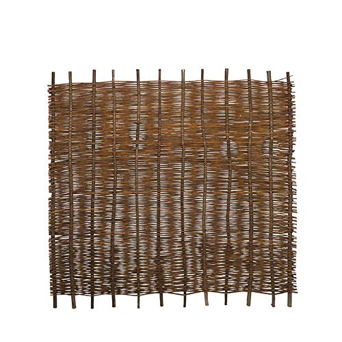 Weidenprofi Sichtschutz, Weidenzaun Modell Stabil, Flechtzaun aus Weide - Größe (BxH) 180 x 150 cm