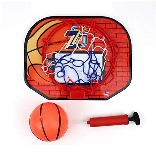 Canasta de baloncesto para niños, para interiores, portátil, de plástico, para niños y padres