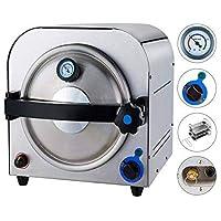 オートクレーブ 滅菌器 高圧蒸気 小型 14L 半自動 LCDディスプレイ 除菌器 消毒機 移動便利 TR250E