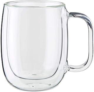 Double Wall Isolated Glass Coffee Mug, 250 ml