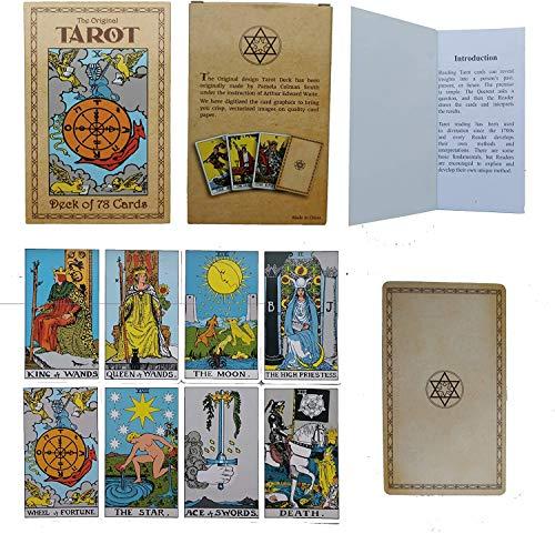 YTTde 78 Piezas/Juego De Cartas De Tarot para Principiantes, Diseño Original De Pamela Colman con Libro Guía
