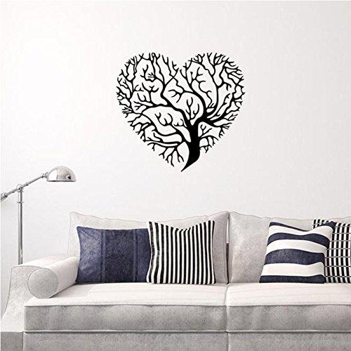 Vinilo adhesivo decorativo para pared, diseño de árbol con forma de corazón, tamaño grande, extraíble