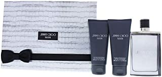 JIMMY CHOO Man 3 Pc Gift Set For Men - 3.3Oz EDT Spray, 3.3Oz All Over Shower Gel