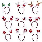 Frcolor Enfants Mignons Bandeau Antlers ours Bonhomme de Neige Arbre Bowknot Bandeau Fête D'anniversaire Fête de Pâques Jour Carnaval Accessoire de Cheveux-Lot de 9