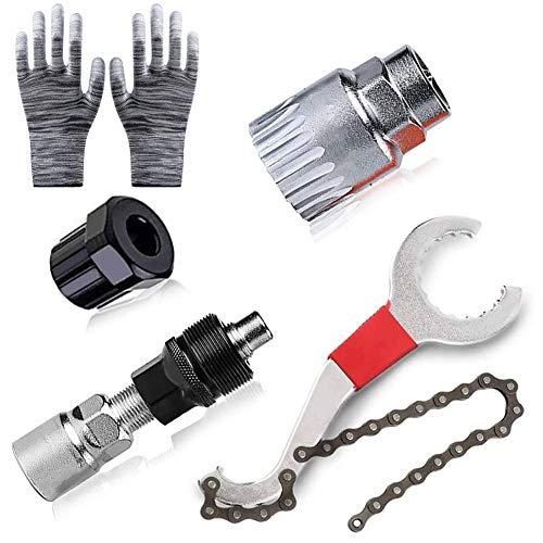 Herramientas Reparación Bicicleta Multifuncional, Kit de Herramientas de Reparación de Bicicletas, Cortador...