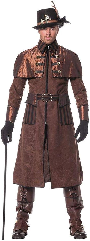 negozioerama - Cappotto da uomo in stile vittoriano industriale ssquadrapunk, Coloreeee  Marroneee nero