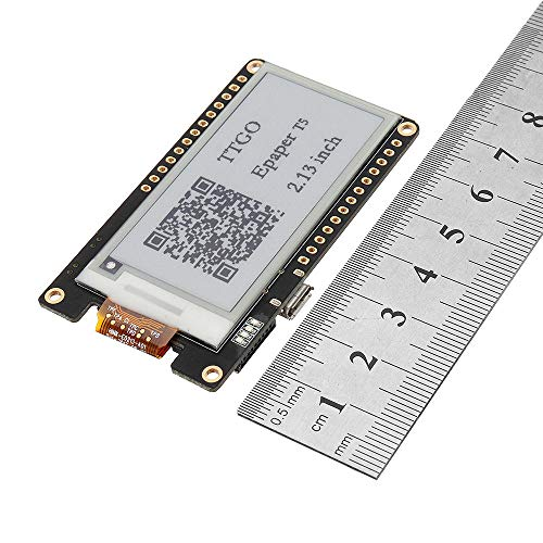 Módulo electrónico Módulo inalámbrico WI-FI Bluetooth Base ESP-32 ESP32 2.13 Tablero de Desarrollo de Pantalla EPACENTE T5 V2.0