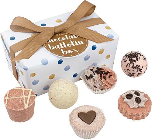 Cosméticos Bomb - BALCHOC 6 - Baño Caja de regalo de la forma del chocolate/del corazón de Rose