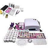 Kit de manicura profesional para manicura de uñas, lámpara UV