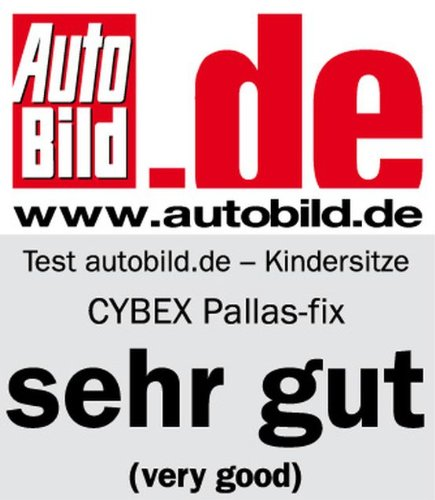 Cybex 512110004 Silver Pallas-Fix Silla de Coche Grupo 1/2/3, 2 en 1, para Niños, Gris (Cobblestone)