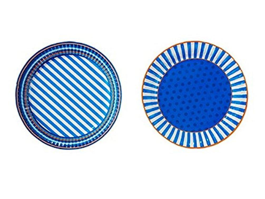 高架統合シアーTalking Tables 紙皿/ブルー (直径約23cm) 8枚入