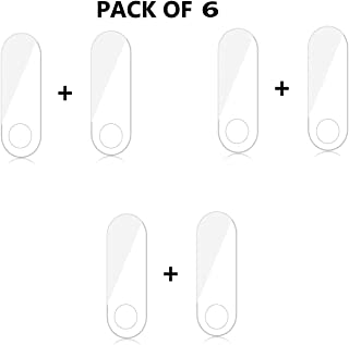 TASLAR Full Coverage Anti Bubble Front Screen Scratch Guard Protector Compatible with Xiaomi Mi Band 3 (Pack of 6)