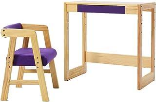 Table D'étude pour Enfants Bureau Et Chaise Relevables Bureau À Domicile pour Les Élèves du Primaire Table Carrée Et Table...