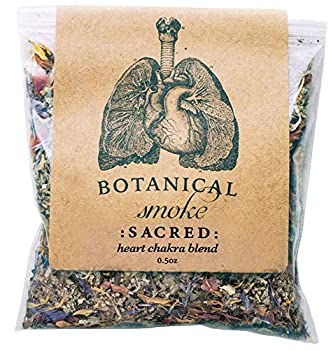 Anima Mundi Botanical Sacred Smoke - Organic Herbal Smoking Blend with Mugwort Rose Petals & Calendula Flowers Heart Chakra Blend - Natural Botanical Smoke Blend  0.5oz