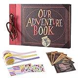 LBSC - Libro de aventuras Pixar hecho a mano, manualidades para Familia, álbum de recortes retro, para aniversario, viajes, recuerdos de vacaciones, Navidad
