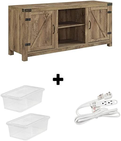 Home Accent Furnishings New Sturdy 58 Inch Wide Barn Door Television Stand Natural 58 00 X 16 00 X 24 00 Inches