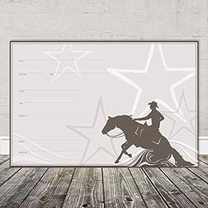 Boxenschild Stallschild Stalltafel Namensschild Pferd 'Western, Quarter Horse, Reining' 20x30cm