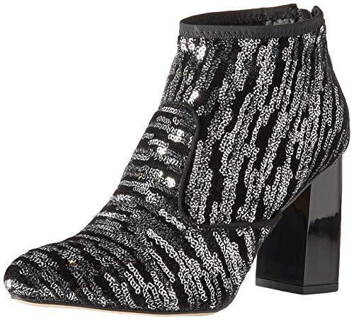Franco Sarto Women's Kortney Ankle Boot, Black Sequin, 9.5 M US